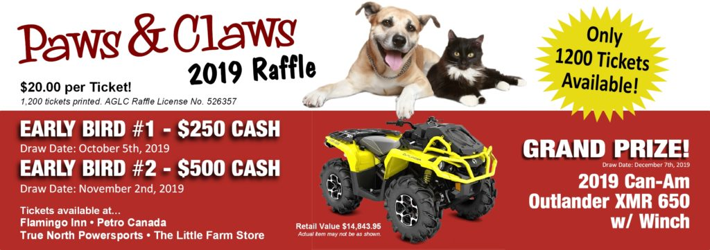 PAWS & CLAWS Raffle | Northern Lights Regional Humane Society